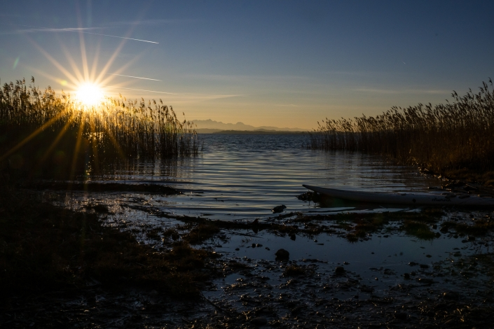 Elias Maier Photography Chiemsee Chieming Sonnenuntergang Boot